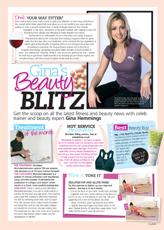 Gina's Beauty Blitz column
